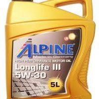 Масло моторное синтетическое Alpine Longlife III 5w30 5л.