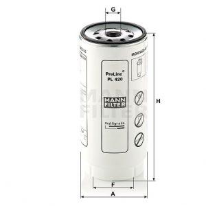 Фильтр топливный MANN-FILTER PL420X